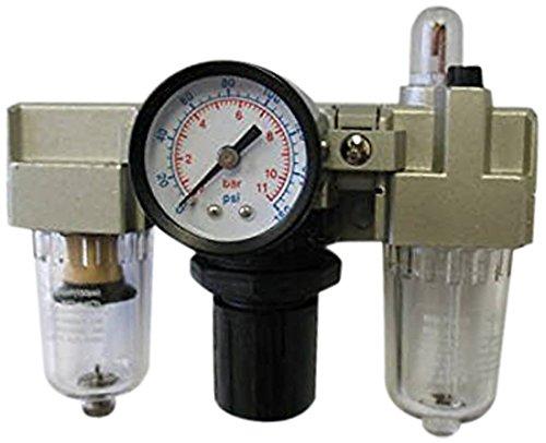 MettleAir AC2000-N01 Filter/Regulator/Lubricator with Gauge, 500 L/minute, 1/8'' NPT (Pack of 10) by MettleAir
