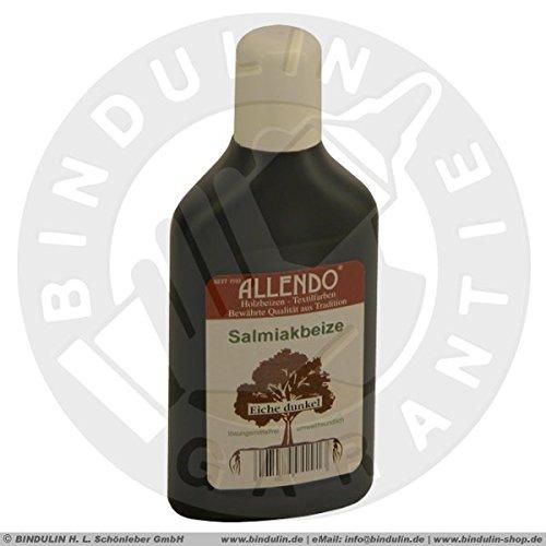 Salmiakbeize Holzton inkl. 1x Pinsel für beizen zum Auftragen (250 ml eiche-dunkel)