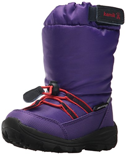 Kamik Waterproof Snow Boots - Kamik Girls' Arvid Snow Boot, Purple, 2 Medium US Little Kid