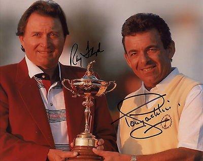 (RAY FLOYD+TONY JACKLIN HAND SIGNED 8x10 PHOTO+COA AWESOME+RARE RYDER CUP)