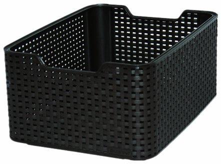 Curver Style Medium Rectangular Storage Basket, Dark Brown, 18 Litre 188960 188960_-