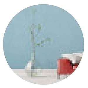 alfombrilla de ratón Panorama de la sala de estar con sofá contra la pared - ronda - 20cm