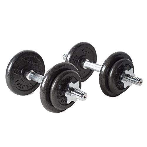 CAP Barbell 40-pound Adjustable Dumbbell Set with (Free Barbell)
