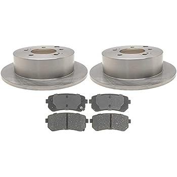 Prime Choice Auto Parts SCD1313-R41588 Rear Set of Premium Rotors /& Ceramic Pads