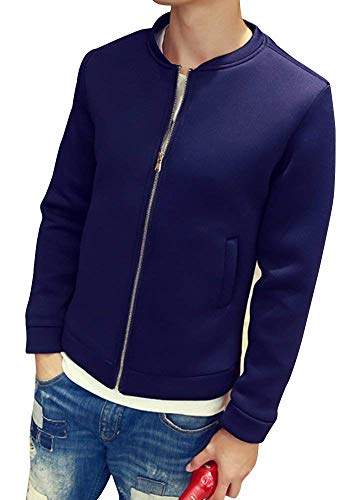 Cuello Outwear Adelina Collar De De Otoño Colores Impermeables Los Sólido Hombres Color Marineblau Abrigo Chaqueta Cremallera Sueltas Chaqueta Chaquetas De Ropa De Moda con AOABrxqZ