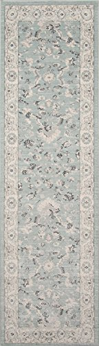Momeni Rugs ZIEGLZE-03BLU2376 Ziegler Collection, Traditional Area Rug, 2'3