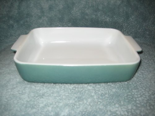 Vintage Pyrex GREEN 1 1/2 Quart - 8 1/2 x 7 x 2 1/4 Glass Casserole Baking Dish Pan