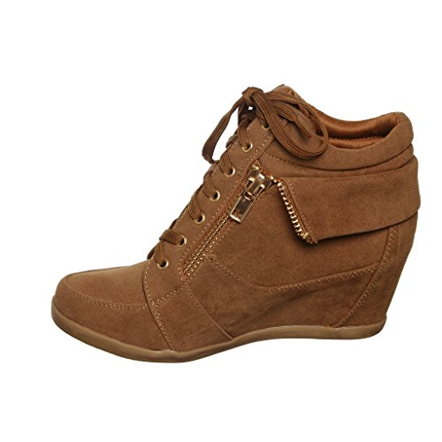 Shoewhatever Kvinnor Pl Hi-top Kil Spets-up Mode Sneakers Tangl