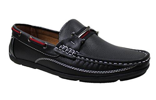 estivi man's casual 40 45 uomo a Mocassini ecopelle shoes da Nero scarpe xZ5ICWwEq