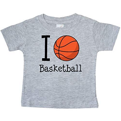 inktastic - I Heart Basketball Baby T-Shirt 24 Months Heather Grey 18b71