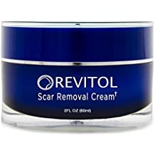 Revitol Scar Removal Cream – Effective with All Skin Types and Scar Types Including Acne Scars, Keloid Scars, Surgical, and More! Help Restore Your Skin Fast with our All-Natural Lotion ~ 5 Jars