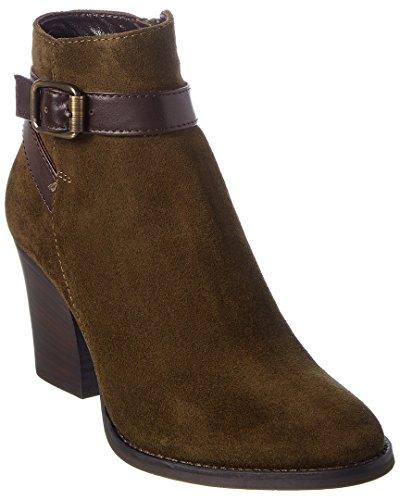 Aquatalia Farley Waterproof Leather & Suede Bootie, 8, Green