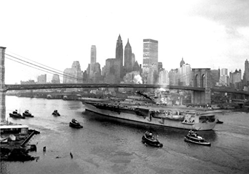 - Home Comforts Laminated Poster The U.S. Navy Aircraft Carrier USS Constellation (CVA-64) About to Pass Under The Brooklyn Bridge, N Vivid Imagery Poster Print 24 x 36