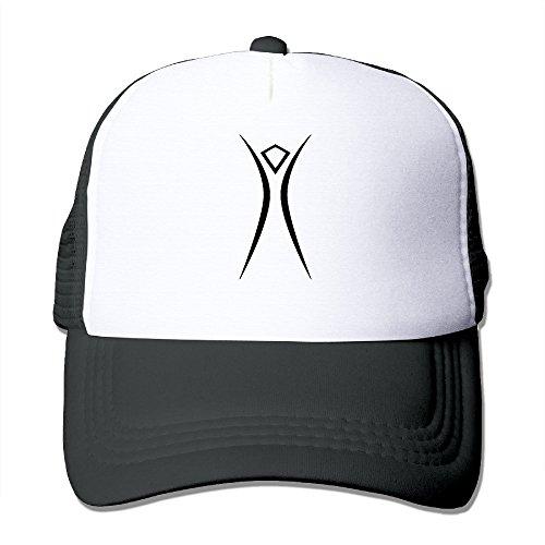Burning Man Logo Mesh Hat Baseball Cap Black