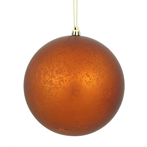 Vickerman 478851-4 Copper Matte Mercury Ball Christmas Tree Ornament (6 pack) (N176188) (Copper Christmas Balls)