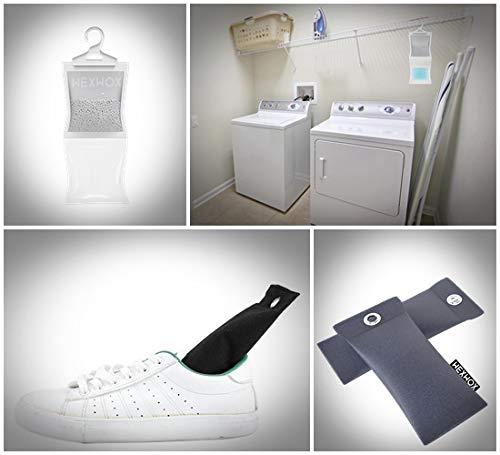 elimina Gli odori Pacchetto di soluzioni totali Wexwox Deumidificatori per neutralizzatori di casa e degli odori assorbe lumidit/à purifica laria