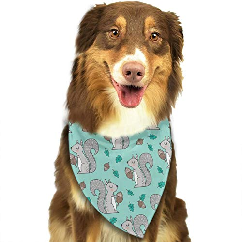 OURFASHION Forest Squirrel Leaves Acorn Bandana Triangle Bibs Scarfs Accessories for Pet Cats and Puppies -