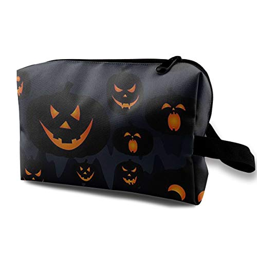 Travel Cosmetic Bags Halloween Jack O Lantern Makeup Multifunction Storage Portable Clutch Pouch Toiletries Organizer Bag]()