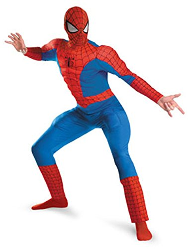 Spider-Man Deluxe Muscle Plus Adult Costume Size 1X-2X (50-52)