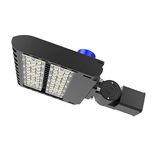 LED Parking Lot Light, Adiding 200W Street Area Light Lumileds SMD 3030 LED 130 Lm/W, 5700K Bright White Light 26000lm with Photocell Sensor &Short-Circuit Cap, 3-Type Mounts IP66 UL DLC Listed