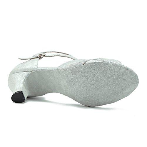 Minitoo Donna Heel Ballroom 6cm Silver 4rq64wA8x