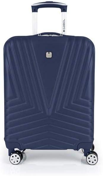 Gabol - Atlanta | Maleta de Cabina con Cargador USB Rigida de 40 x 55 x 20 cm con Capacidad para 34 L de Color Azul