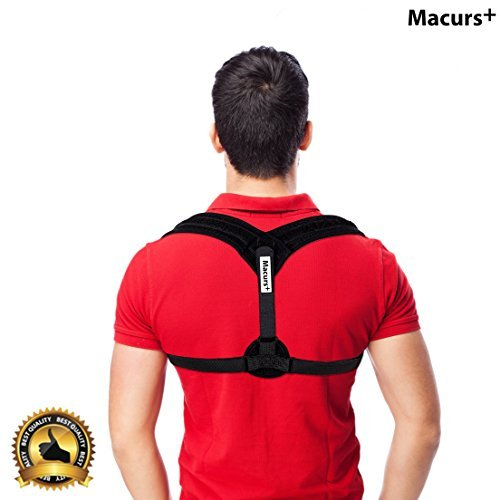 Back Posture Corrector Adjustable(28''- 48'') & Clavicle Brace for Women & Men, Effective and Comfortable Adjustable Correct Brace – Helps to Generate Muscle Memory, Shoulders & Neck by MACURS