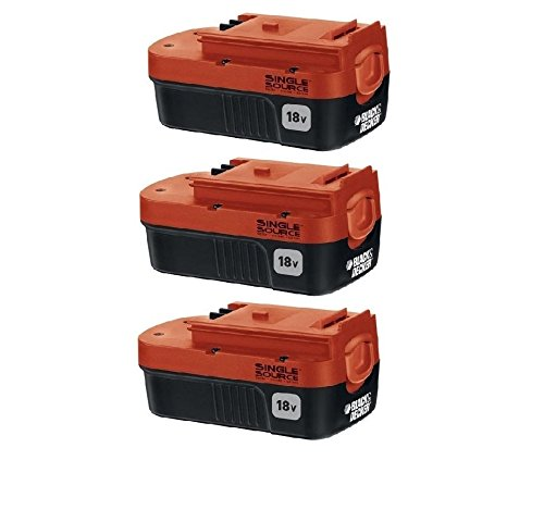Black & Decker HPB18-OPE (3 Pack) 18v 18 volt NiCad single source battery New