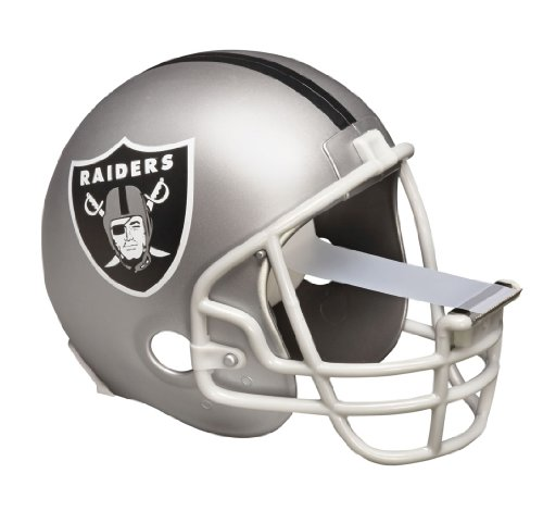 Scotch Magic Tape Dispenser, Oakland Raiders Football Helmet with 1 Roll of 3/4 x 350 Inches Tape - Oakland Raiders Oak Helmet
