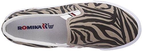 ROMIKA Laser Zebra, Chaussures bateau femme Noir - Schwarz (Schwarz-taupe 147)