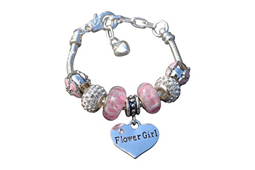 Infinity Collection Flower Girl Bracelet, Wedding Bracelet-Makes The for Flower Girls ()