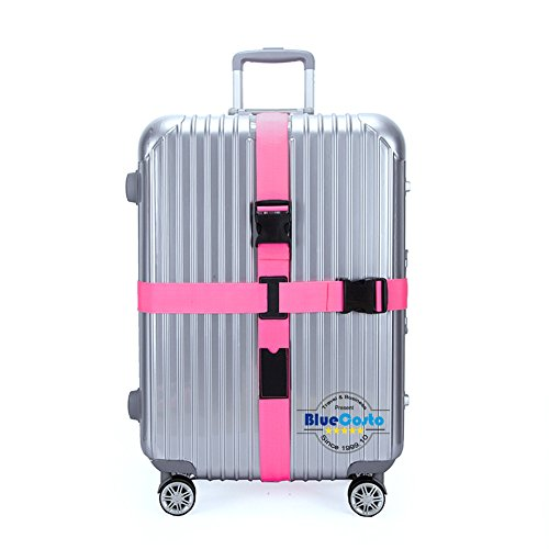 BlueCosto (Pink) Adjustable Luggage Straps Suitcase Travel Accessories Belt 600001-PIN