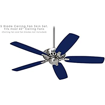 Solids Collection Navy Blue - Ceiling Fan Skin Kit fits