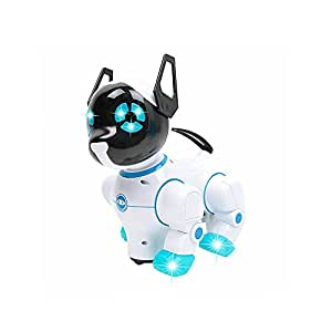 Ranibow Chara Smart Dancing Robot Dog Toy- with Flashing Lights, Sounds and Universal Wheel –Best Gifts for Kids, Children, Girls and Boys (Blue)
