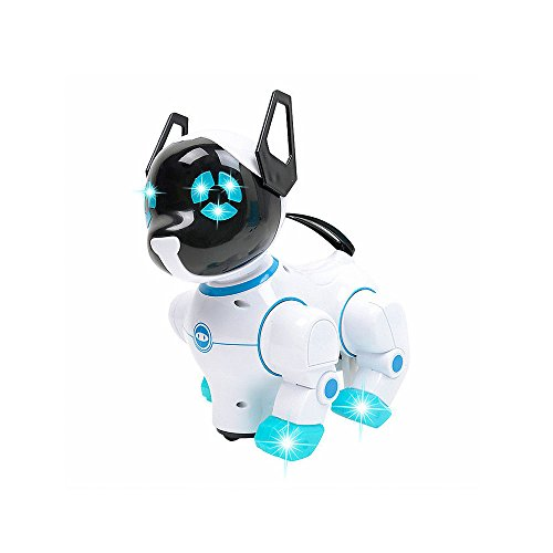 Low cost Good Dancing Robotic Canine Toy- with Flashing Lights, Sounds and Common Wheel –Greatest Presents for Youngsters, Kids, Ladies and Boys (Blue)  Critiques