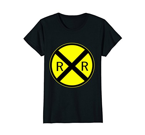 Womens Railroad Crossing Sign Simple Easy Halloween Costume T-Shirt Large (Halloween Costumes Appropriate For Teacher)