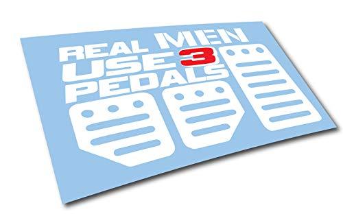 Luke Duke Decals Real Men Use 3 Pedals sticker Funny JDM race car truck window decal (Pedal Racecar)