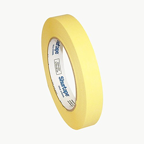 Shurtape CP-632 Colored Masking Tape: 3//4 in x 60 yds. CP-632//BLK07560 Black