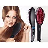 OZOY 2-in-1 Simply Straight Ceramic Hair Straightener Brush