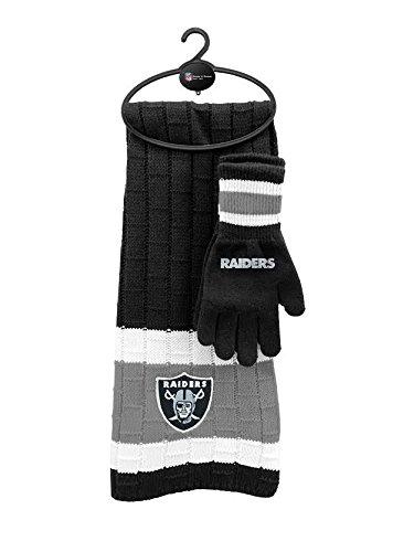 NFL Oakland Raiders Scarf & Glove Gift Set