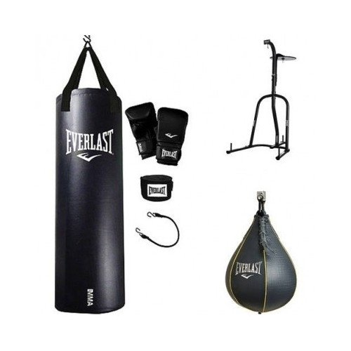 Everrlast Dual Station Heavy Bag Stand, 70-lb MMA Heavy Bag Kit and Speedbag by Everrlast (Image #4)