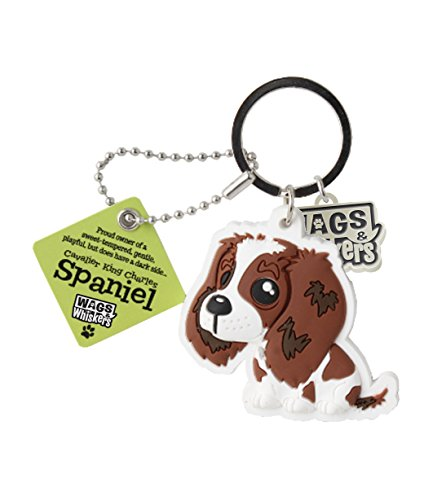 Wags and Whiskers Cavalier King Charles Spaniel Key Chain with Keyring/Key Holder (886767110493)