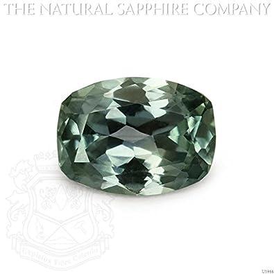 Amazon com: Natural Untreated Bluish Green Sapphire, 1 31ct