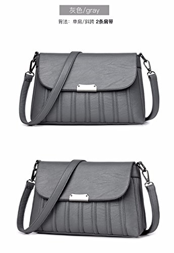 Bag Presenta CCZUIML Bandolera Bolsa Esta Nueva gris una Cruzada roja qTTFvwd