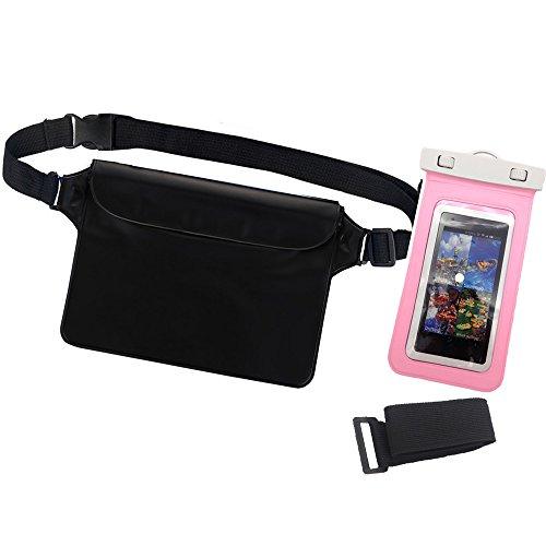 Universal Waterproof Dry Bag Map Case + Running Belt Waist Pack for Outdoors