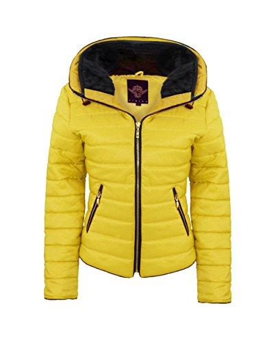 Generation Fashion - Abrigo - chaqueta guateada - para mujer Mostaza