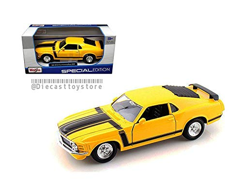 DIECAST 1:24 W/B Special Edition 1970 Ford Mustang BOSS 302 31943YL by MAISTO