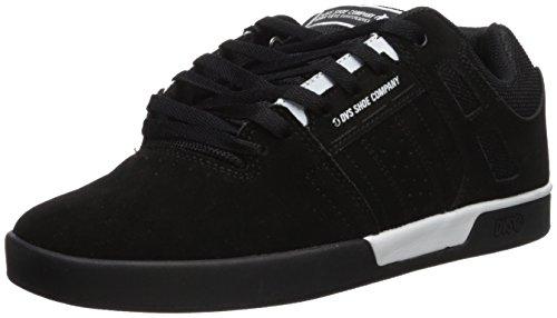 Chaussures Dvs Herren Getz + Skateboardschuhe, En Daim Noir Blanc