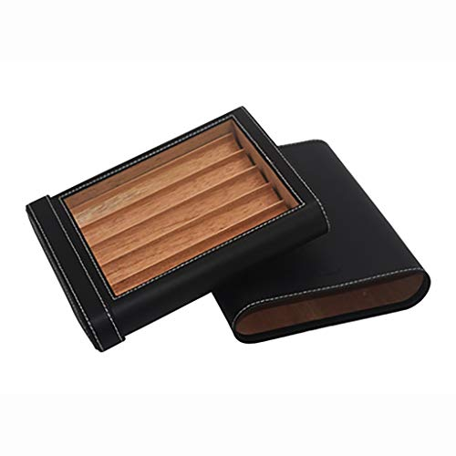 $74.90 cuban crafters humidor Cigar Box 5 Sticks Mellow Cuban Cigar Humidor Imported Original Portable Cigar Leather Case 2019