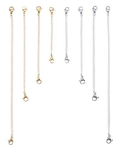 I-MART Stainless Steel Necklace Bracelet Extender Chain Set